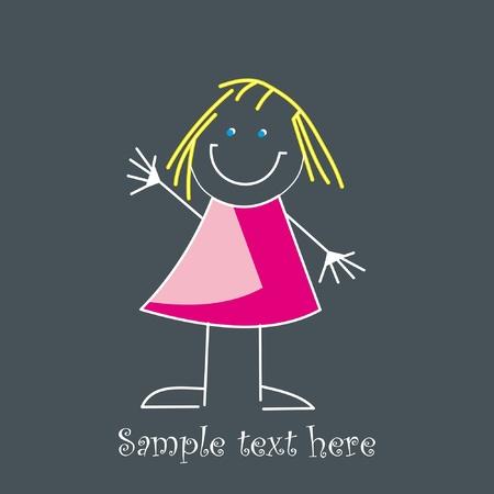Cute little girl Stock Vector - 10100618