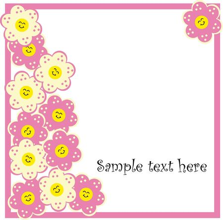 Beautiful spring background with flowers Vector