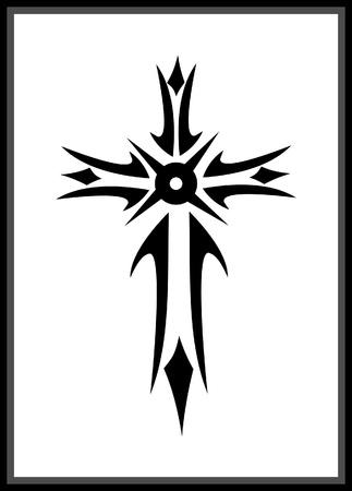 Vector grunge gothic cross Illustration
