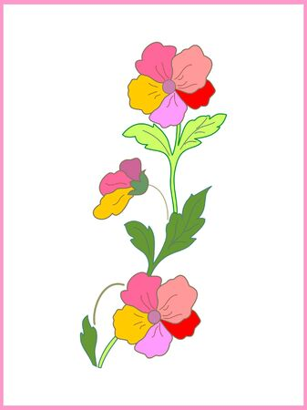 Card with beautiful flower Stock Vector - 10100687