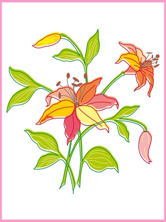 Card with beautiful flower Illustration