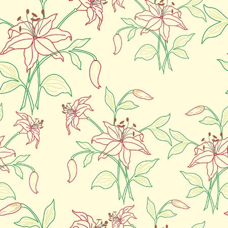 Stylish beautiful bright floral seamless pattern. Abstract Elegance vector illustration texture Stock Vector - 10100686