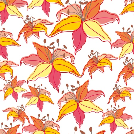 Stylish beautiful bright floral seamless pattern. Abstract Elegance vector illustration texture Vector