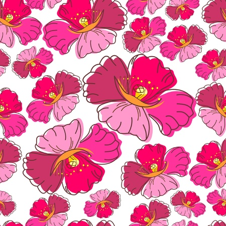 Stylish beautiful bright floral seamless pattern. Abstract Elegance vector illustration texture