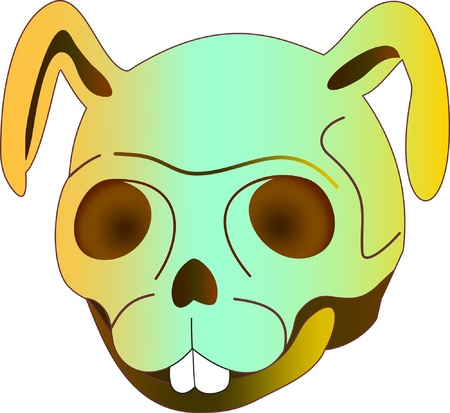 Rabbit Skull Design Stock Vector - 10100693