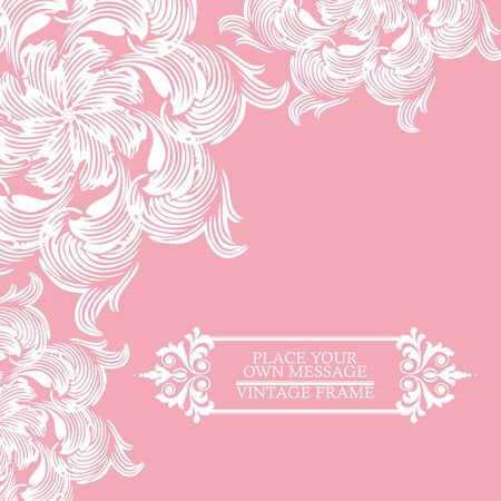 Elegance vintage invitation card place for text or message