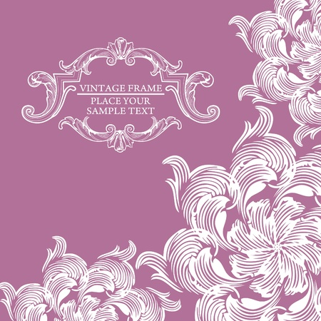 saffron: Elegance vintage invitation card place for text or message