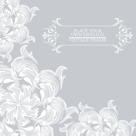 jonquil: Elegance vintage invitation card place for text or message