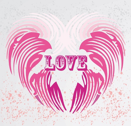 vintage heart shape background Stock Vector - 10170771