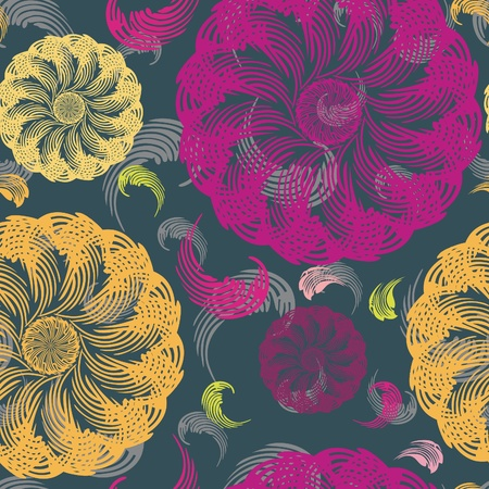 textiles: Stylish floral seamless pattern