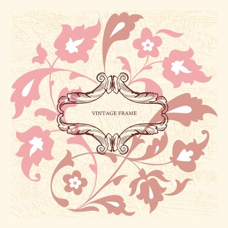 Elegance vintage card with place for text or message Vector