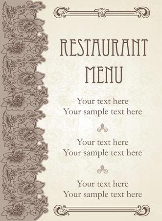 menu de postres: Vector. Dise�o de men� de restaurante