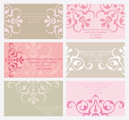 6 elegant business cards templates Stock Vector - 10394277