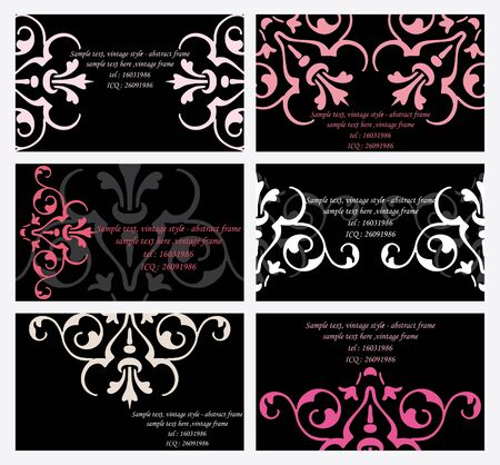 6 elegant business cards templates Vector