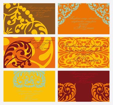 conjunto de tarjetas floral