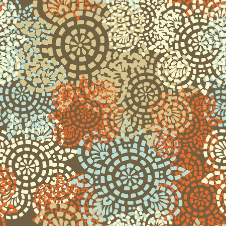 Flowers abstract seamless vector texture in gentle colors Illustration