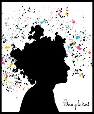 beautiful woman silhouette Stock Vector - 10559880