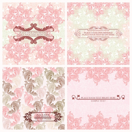 saffron: Set of wedding invitations card