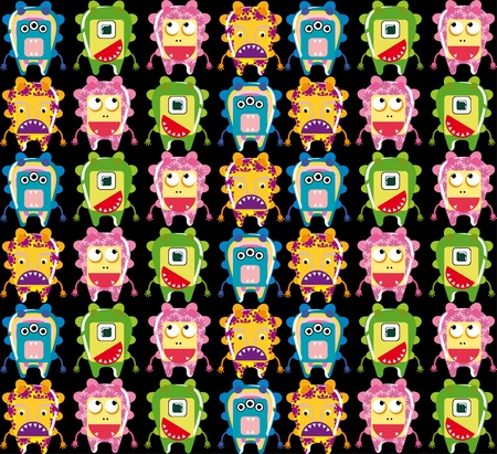 Seamless monster pattern Stock Vector - 10826559