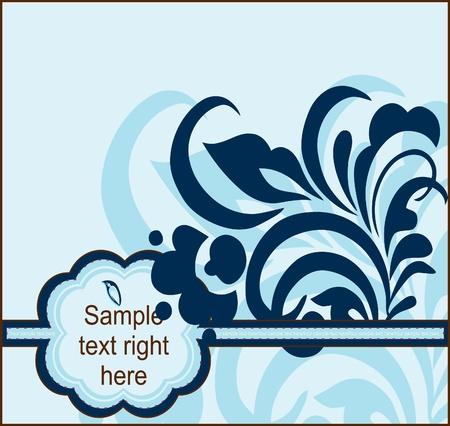 Floral postcard, element for design Vector