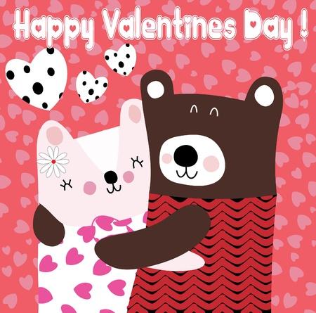 osos de peluche: Dos osos de peluche lindo en el amor Vectores
