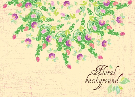Floral background, greeting card Stock Vector - 12027178