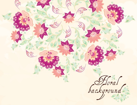 Floral background, greeting card Stock Vector - 12027176
