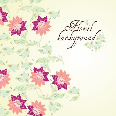 Floral background, greeting card Stock Vector - 12027170