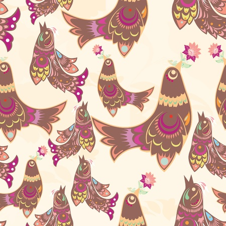 bird pattern: seamless bird pattern