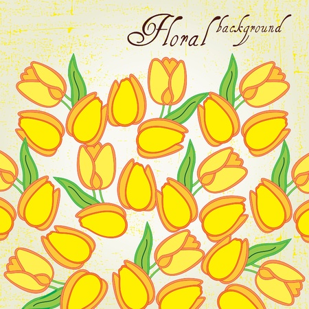 Stylish floral background, greeting card Vector