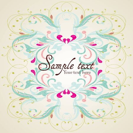 Vintage card design for greeting card, invitation, menu, cover Stock Vector - 12450397
