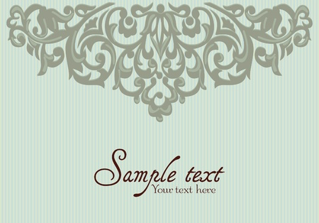 Background with Vintage Label Vector