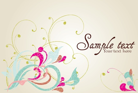 Vintage card design for greeting card, invitation, menu, cover Stock Vector - 12450402