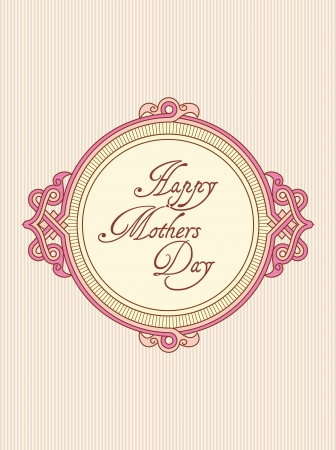 mother s day greeting card Stock Vector - 13222818