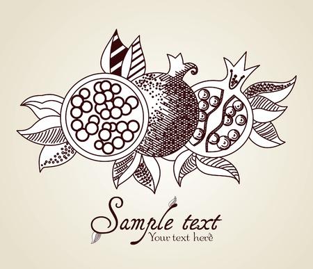 Pomegranate Fruit Illustration