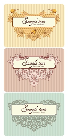 Different types of decorative elements combined in frame  With space for your text
