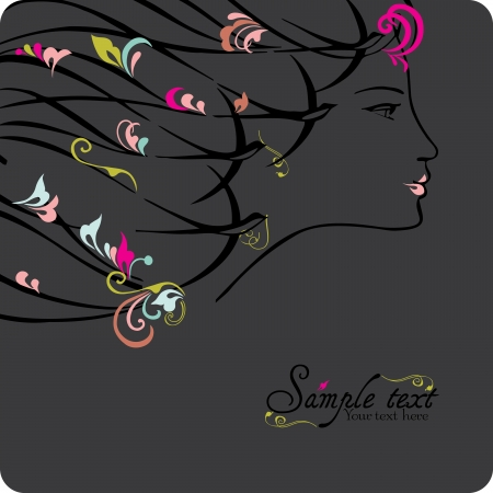 Woman face, vector illustration. Vector
