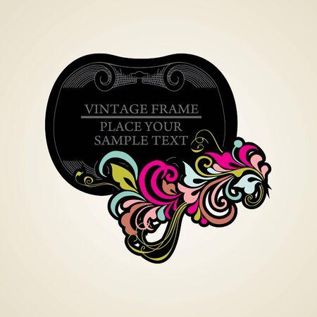 Elegance vintage frames for your text Stock Vector - 13465617