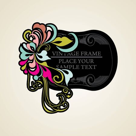 Elegance vintage frames for your text Stock Vector - 13465620