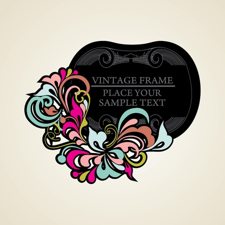 text box: Elegance vintage frames for your text