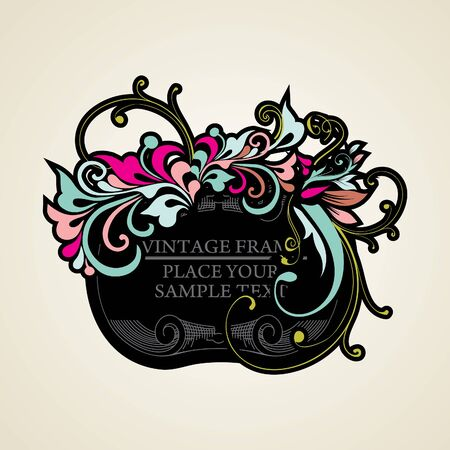 Elegance vintage frames for your text Stock Vector - 13465625