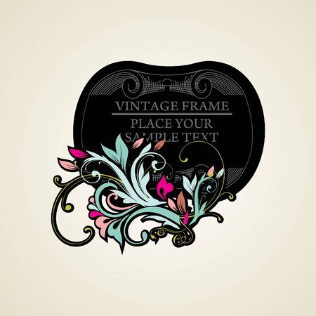 Elegance vintage frames for your text Stock Vector - 13465626