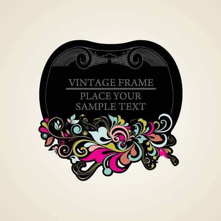 Elegance vintage frames for your text Stock Vector - 13564698