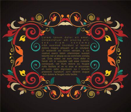 opening party: Vintage dise�o de la tarjeta de tarjetas de felicitaci�n, invitaciones, men�, cubierta sobre fondo negro Vectores