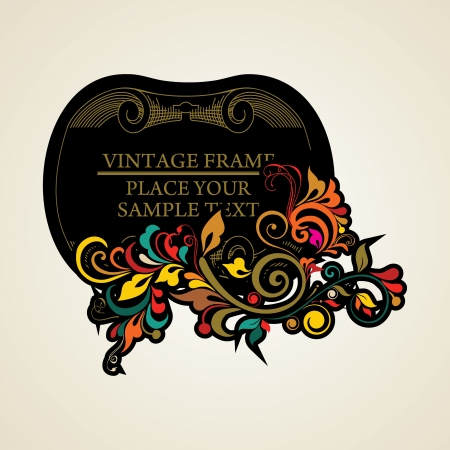 Elegance vintage frames for your text Stock Vector - 13761613