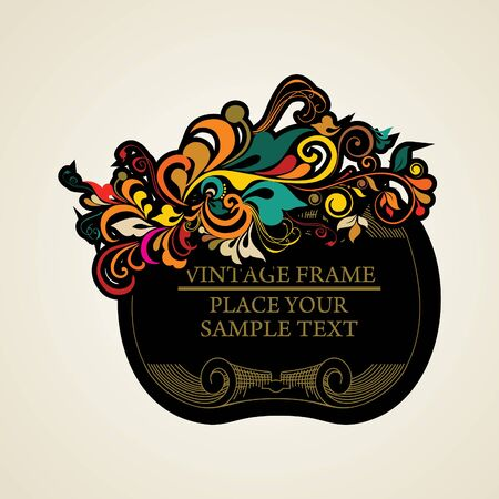 Elegance vintage frames for your text Stock Vector - 13761614