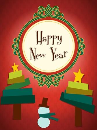 Christmas postcard  illustration Stock Vector - 16184357