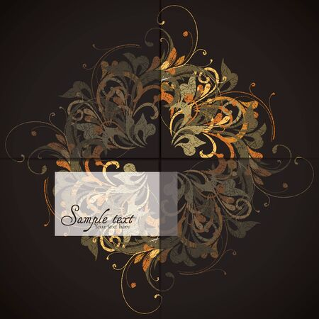 Vintage card design for greeting card, invitation, menu, cover Vector