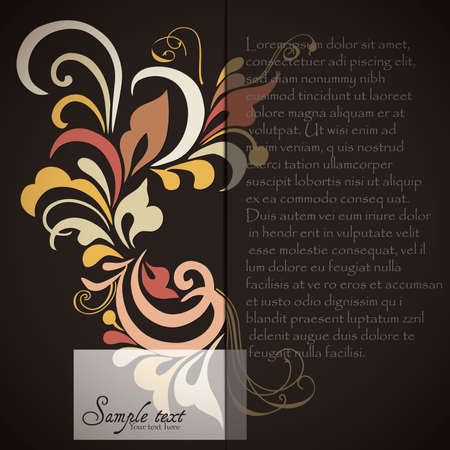 Vintage card design for greeting card, invitation, menu, cover Stock Vector - 17780287
