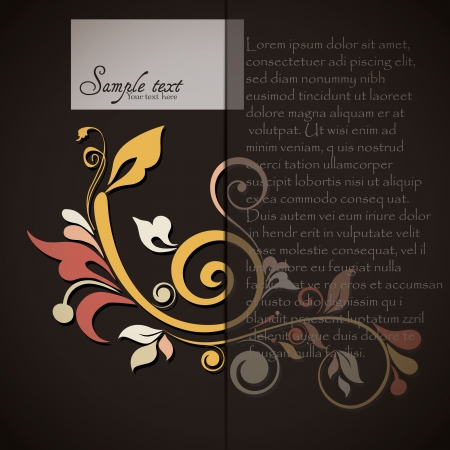 Vintage card design for greeting card, invitation, menu, cover Stock Vector - 17780292